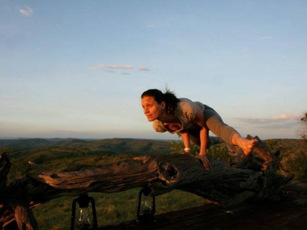 Yoga in Kenya.