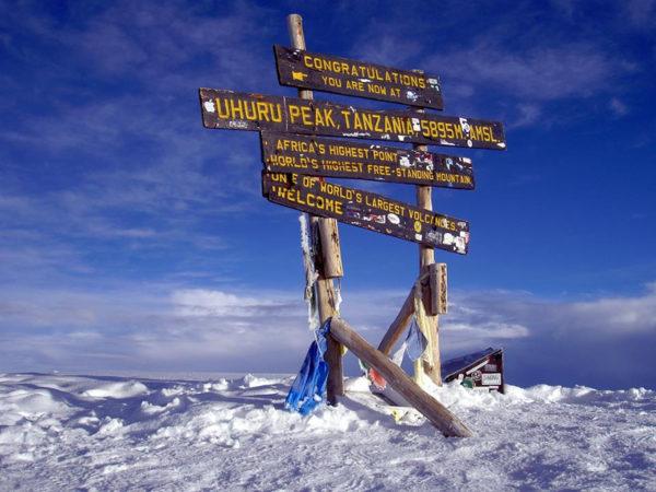 Uhuru Peak, Kilimanjaro.