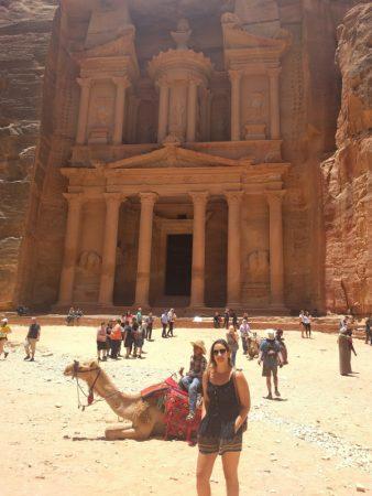 The Ancient Nabatean Treasury, Petra, Jordan.